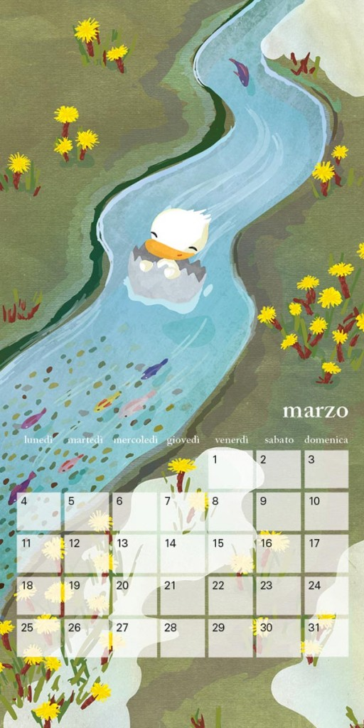 Calendar-1-March-Little-Cloud